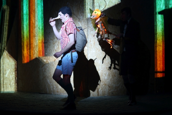 Nathan O'Keefe stars as the title character in Pinocchio, directed by Rosemary Myers, at the New Victory Theater.