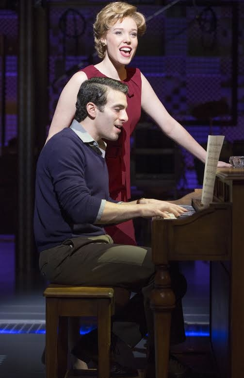Jessica Keenan Wynn as Cynthia Weil, with Jarrod Spector as Barry Mann.