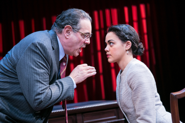 Edward Gero as Supreme Court Justice Antonin Scalia and Kerry Warren as Cat in John Strand's The Originalist, directed by Molly Smith, at Arena Stage.