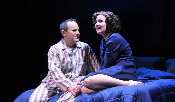 Steven Goldstein and Aimee Doherty as Edward and Sandra Bloom in Big Fish, directed by Paul Daigneault, at SpeakEasy Stage Company.