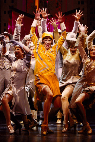 Sutton Foster in the 2002 production of Thoroughly Modern Millie.