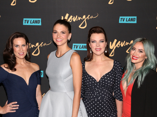 Miriam Shor, Sutton Foster, Debi Mazar, and Hilary Duff star in the now TV Land series Younger.