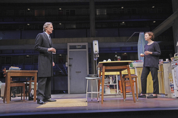 Bill Nighy and Carey Mulligan star in David Hare's Skylight, directed by Stephen Daldry, at The John Golden Theatre.