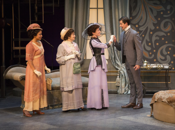 Carolyn Ratteray, Lynn Milgrim, Paige Lindsey White, and Alex Knox in George Bernard Shaw's Pygmalion, directed by Jessica Kubzansky, at Pasadena Playhouse.