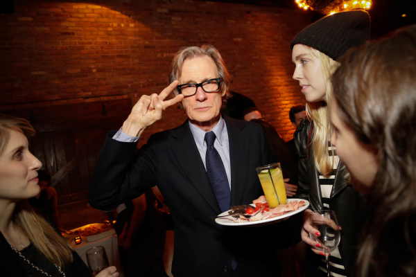 Bill Nighy has a blast at the opening-night party.