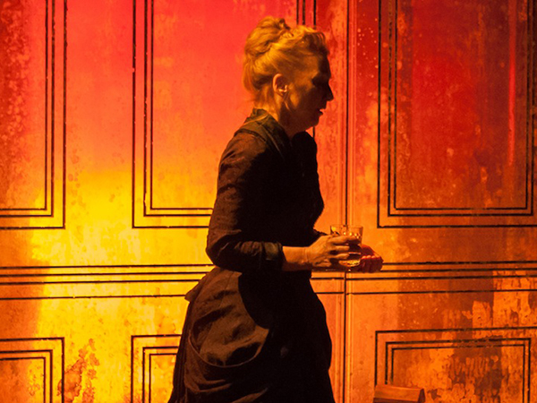 Lesley Manville as Helene Alving in Ghosts at the Almeida Theatre.