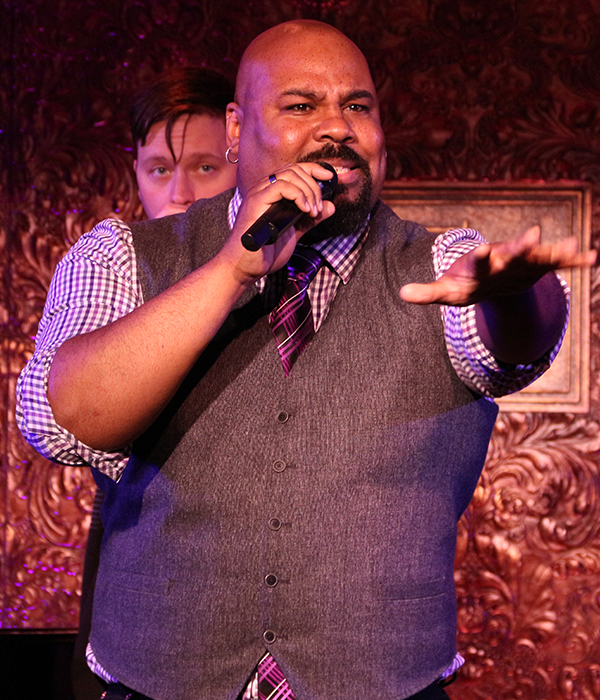 James Monroe Iglehart wows the crowd with his freestyling skills, part of his show, How the Heck Did I Get Here?
