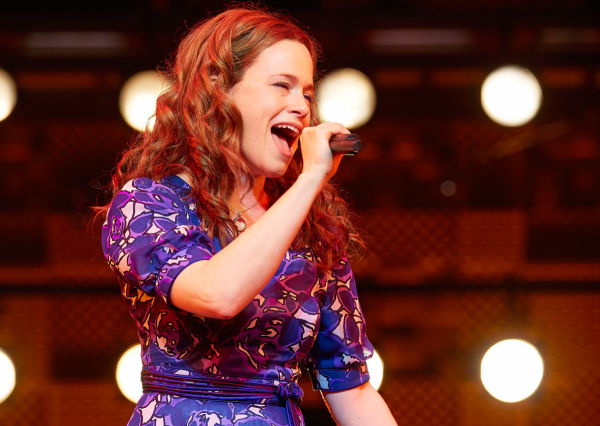 Katie Brayben as Carole King in the Olivier Award-nominated West End production of Beautiful — The Carole King Musical.