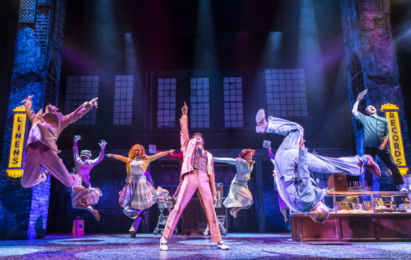 The cast of Memphis the Musical at the Shaftesbury Theatre.