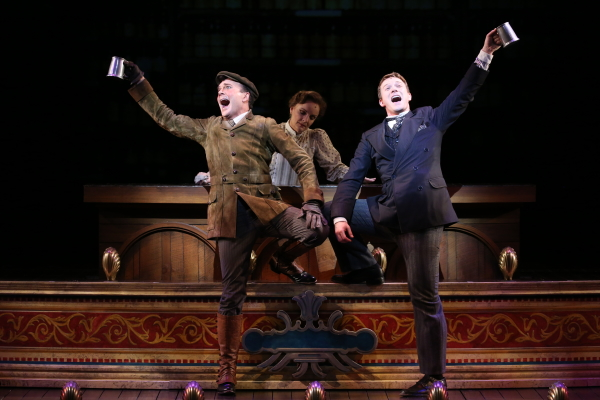 Jefferson Mays and Jeff Kready star in A Gentleman's Guide to Love and Murder at the Walter Kerr Theatre.