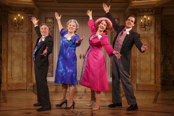 Chip Zien, Tyne Daly, Harriet Harris, and Michael X. Martin star in Brian Hargrove and Barbara Anselmi's It Shoulda Been You, directed by David Hyde Pierce, at the Brooks Atkinson Theatre.