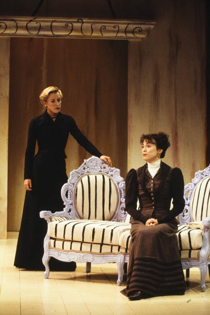 Felicity Huffman and Rebecca Pidgeon in David Mamet's Boston Marriage at American Repertory Theatre in 1999.