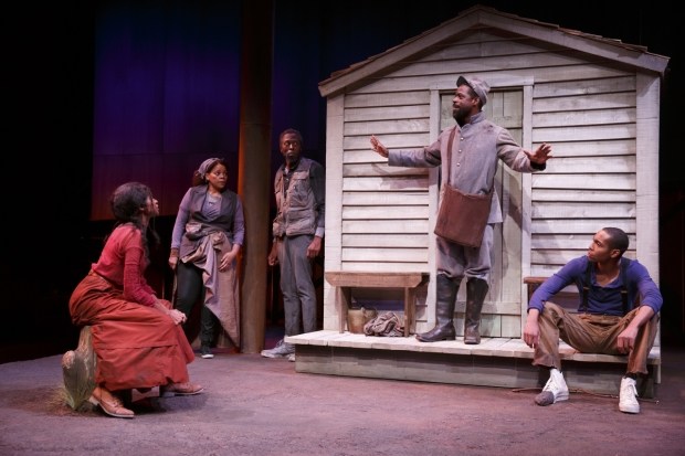 A scene from Suzan-Lori Parks' Father Comes Home From the Wars (Parts 1, 2 & 3) at the Public Theater.