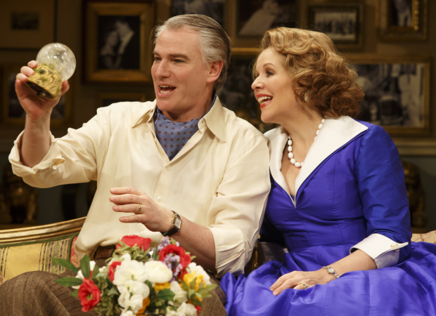 Douglas Sills and Renée Fleming star in Joe DiPietro's Living on Love at the Longacre Theatre.