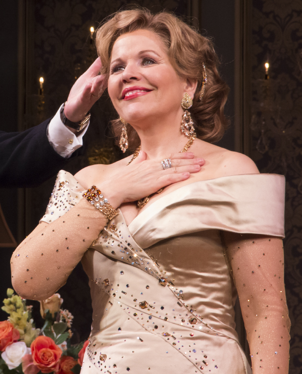 Renée Fleming takes her opening night bow in Living on Love at the Longacre Theatre.