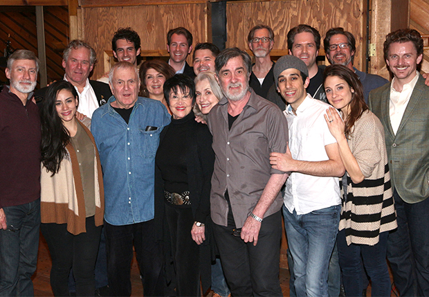 The Visit family poses for a photo during the recording session.