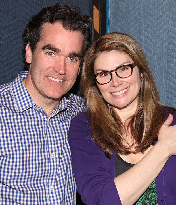 Brian d'Arcy James and Heidi Blickenstaff play onstage couple Nick and Bea Bottom.