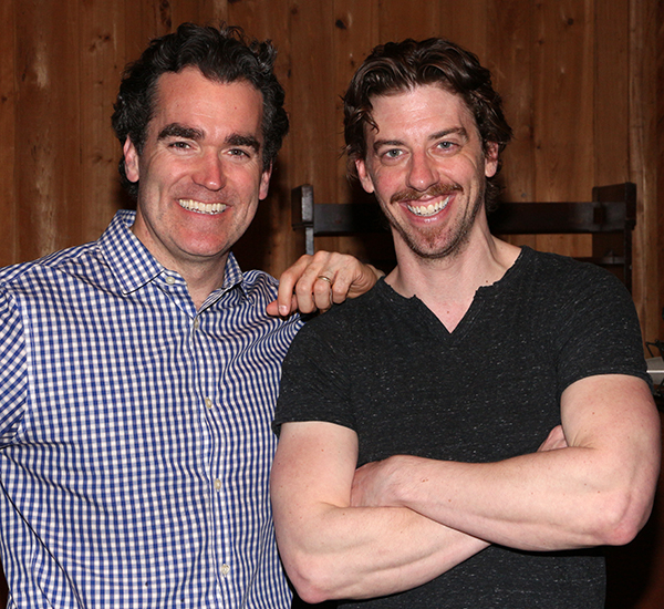Brian d'Arcy James and Christian Borle lead the cast of Something Rotten! as Nick Bottom and William Shakespeare.