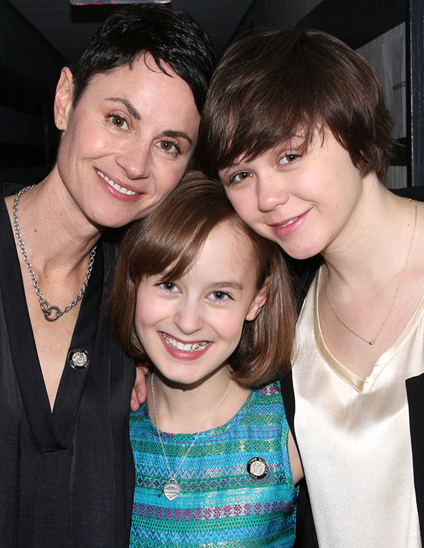 Fun Home stars Beth Malone, Sydney Lucas, and Emily Skeggs celebrate their Tony nominations at the Paramount Hotel.