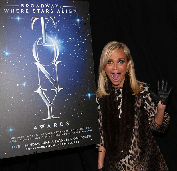 Kristin Chenoweth shows us how she excited she is to be both a 2015 Tony Award nominee AND the cohost of this year's ceremony.