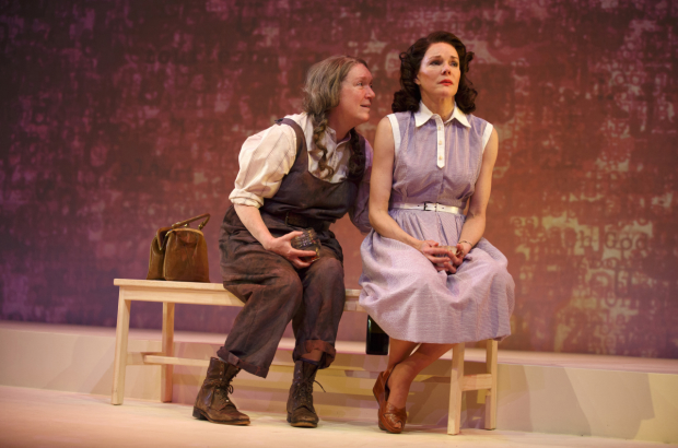 Kristine Nielsen as Anna Trumbull with Carolyn McCormick as Grace in A.R. Gurbey's What I Did Last Summer.