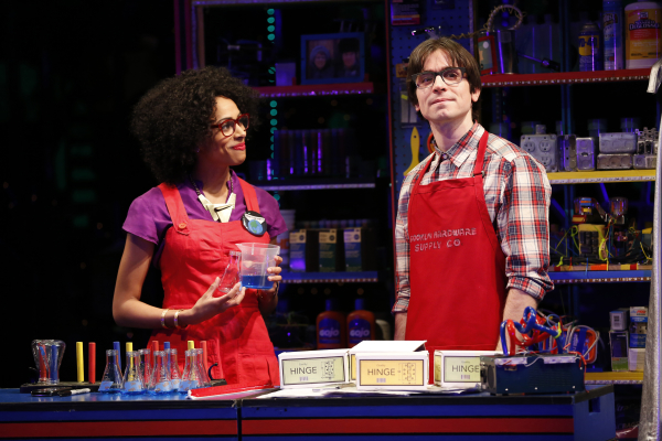 Nicolette Robinson and Matt Doyle in a scene from the Vineyard Theatre's Brooklynite, nominated for Best New Musical in this year's Off-Broadway Alliance Awards.