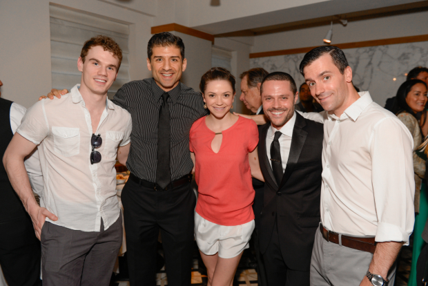 On the Town nominees Jay Armstrong Johnson, Clyde Alves, Megan Fairchild, Joshua Bergasse, and Tony Yazbeck.