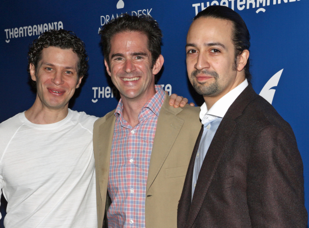 Director Thomas Kail of Hamilton is nominated for a Drama Desk Award. Choreographer Andy Blankenbuehler has already won a special award for Hamilton. Composer/performer Lin-Manuel Miranda is nominated in four categories.