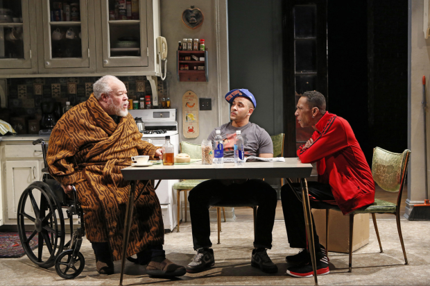 Stephen McKinley Henderson, Victor Almanzar, and Ron Cephas Jones in the Off-Broadway Alliance Award-winning play Between Riverside and Crazy.