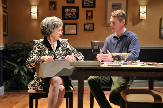 Nancy E. Carroll and Michael Kaye in Terrence McNally's Mothers and Sons, directed by Paul Daigneault, at SpeakEasy Stage Company.