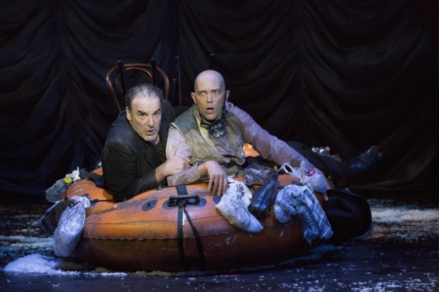 Mandy Patinkin and Taylor Mac in The Last Two People On Earth, directed by Susan Stroman, at the American Repertory Theater.