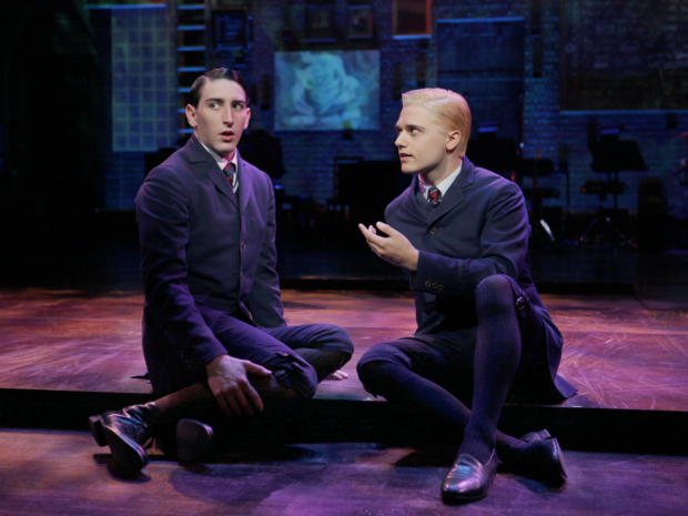 Ben Fankhauser as Ernst and Andy Mientus as Hanschen in the national touring production of Spring Awakening.