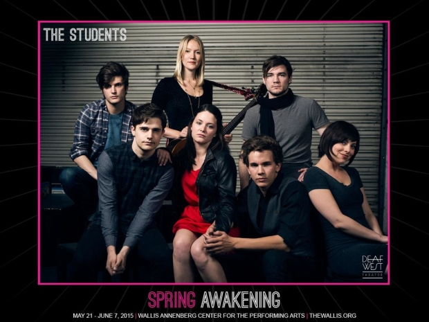 A promotional image for Michael Arden's Deaf West production of Spring Awakening at the Wallis-Annenberg Center.