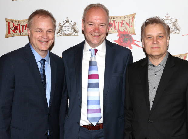 Karey Kirkpatrick, John O'Farrell, and Wayne Kirkpatrick are the three writers of Something Rotten!