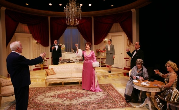 The cast of Moss Hart's Light Up the Sky, directed by Scott Edmiston, at Boston's Lyric Stage Company.