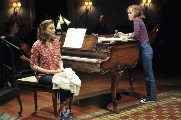 Fun Home Tony nominees Judy Kuhn and Sydney Lucas in scene from the new Broadway musical.