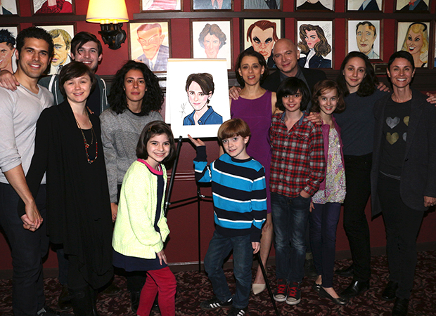 The cast of Fun Home congratulates Judy Kuhn on her latest honor.
