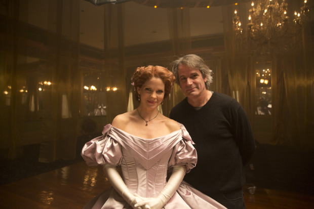 Kelli O'Hara as The King and I''s Anna Leonowens with her director and longtime collaborator Bartlett Sher.