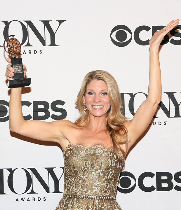 The sixth time's the charm for Kelli O'Hara, who won her first Tony Award for her performance in The King and I.