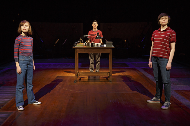 (left to right) Sydney Lucas, Beth Malone, and Emily Skeggs in the 2015 Tony Award-winning Best Musical, Fun Home.