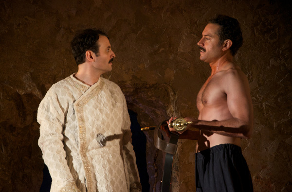 Arian Moayed and Omar Metwally star in Rajiv Joseph's Guards at the Taj, directed by Amy Morton, at Atlantic Theater Company.