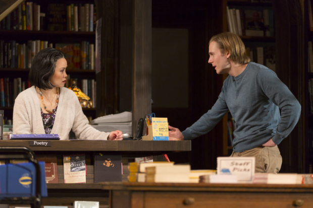 Tina Chilip and Zach Booth in All the Terrible Things I Do, directed by  Peter DuBois, at Boston's Huntington Theatre Company.