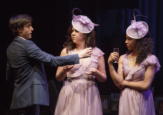 Gideon Glick, Lindsay Mendez, and Carra Patterson star in Joshua Harmon's Significant Other at the Laura Pels Theatre.
