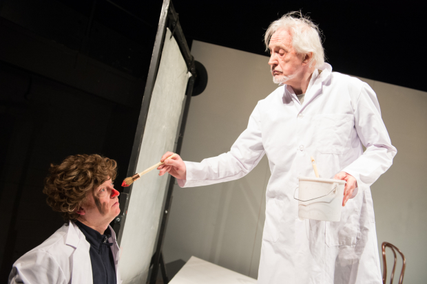Paul Hunter and Edward Petherbridge in My Perfect Mind, directed by Kathryn Hunter, at 59E59 Theaters.