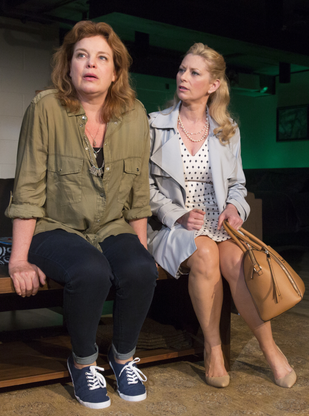 Catherine Curtin as Emily and Angela Pierce as Susie in David Rhodes' Consent.