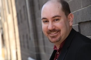 Composer Seth Bisen-Hersh celebrates the Humane Society on July 13 at Don't Tell Mama.