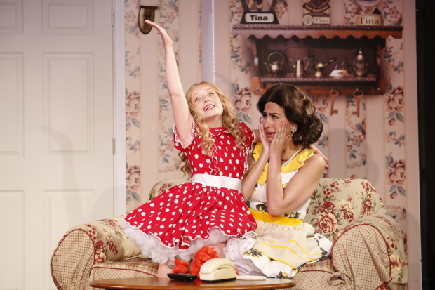 Tori Murray and Kim Maresca star in Marvin Laird and Joel Paley's Ruthless!, directed by Paley, at St. Luke's Theatre.