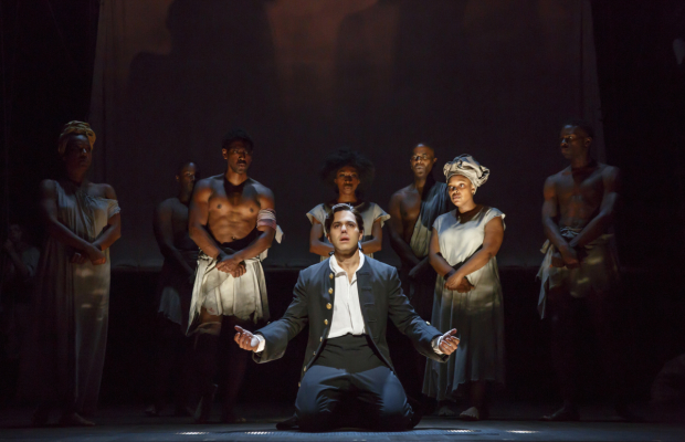 Josh Young and the cast of Amazing Grace at the Nederlander Theatre.