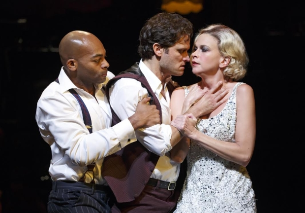 Brandon Victor Dixon, Steven Pasquale, and Sutton Foster are engaged in a dangerous love triangle in The Wild Party.