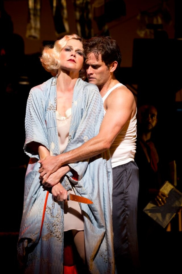 Sutton Foster and Steven Pasquale lead the cast of The Wild Party as Queenie and Burrs.